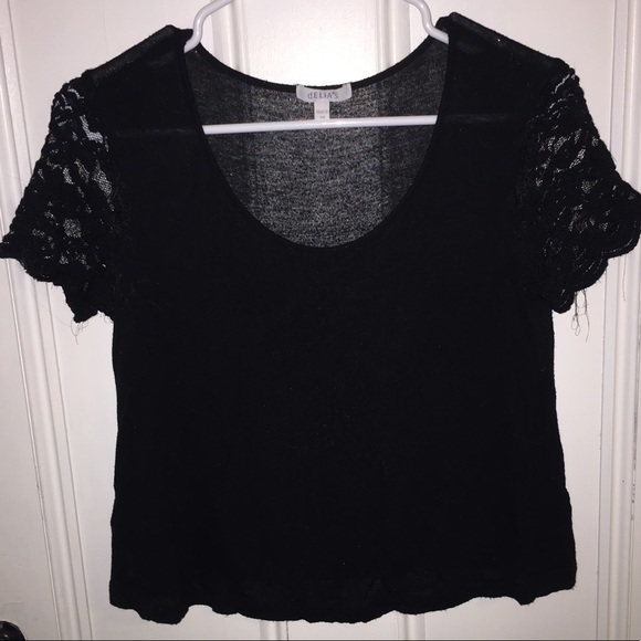 dELiA*s Tops - Delia's Black Lace T Shirt